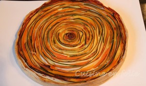 Spirale aux courgettes et aux carottes