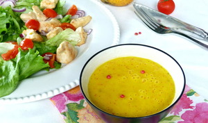 Vinaigrette mangue et orange pour salade