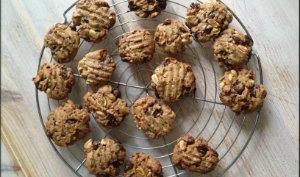 Cookies pépites de chocolat, cacahuètes à la farine complète