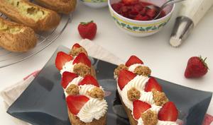 L'éclair à la chantilly et aux fraises