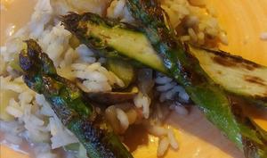 Riz pilaf aux asperges