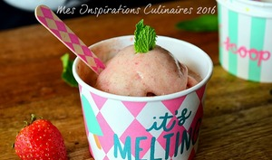Glace aux fraises avec 2 ingrédients