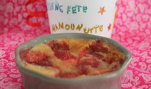 Clafoutis fraises pour la fête des mères