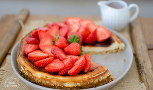 Cheesecake léger aux fraises