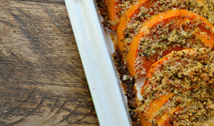 Courge butternut gratinee