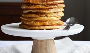 Pancakes joufflus cannelle et lait de coco
