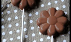 Sucettes au chocolat façon kinder country