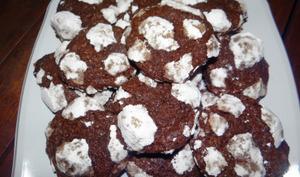 Cookies craquelé tout chocolat
