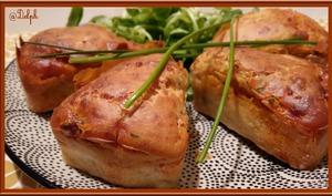 Minis Cakes au Chorizo et Ciboulette