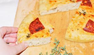 Focaccia chorizo et paprika