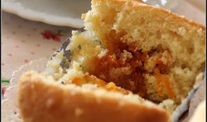 Muffins à la marmelade de carottes nouvelles aux épices et aux raisins secs