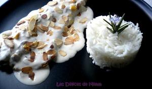 Filet de truite d'Ardenne à la crème d'amandes