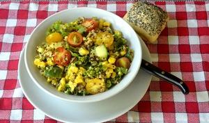 Salade de quinoa sauce moutarde