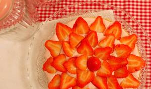 Tarte chantilly à la fraise