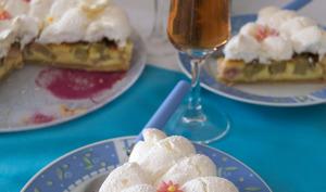 La tarte à la rhubarbe meringuée
