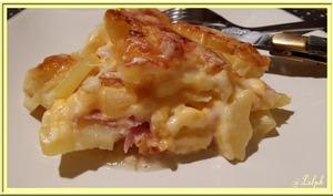 Gratin de Pommes de Terre à la Pancetta et Chedda