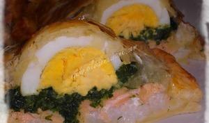 Koulibiacs de Saumon aux Epinards