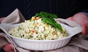 Risotto épinards chèvre noisettes sans riz