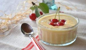 Crèmes aux griottes et à la vanille