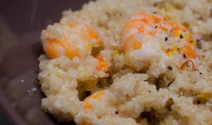 Quinoa aux crevettes et au safran
