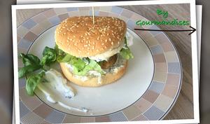 Burger de portobello et mayonnaise au basilic