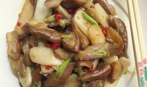 Pâtes de riz sautées aux aubergines