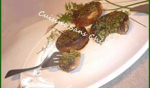 Champignons de Paris farcis aux herbes fraîches
