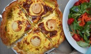Tarte au fromage de chèvre et aux poireaux
