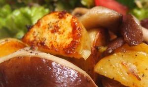 Pommes de terre sautées aux champignons shiitaké