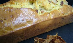 Cake au boudin blanc et pâte de fruit pomme-chia