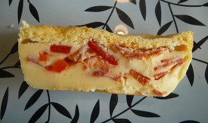 Cake magique au chorizo et poivron