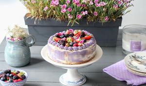 Purple naked cake