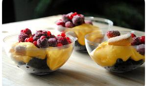 Crème d'Advocaat au mascarpone et fruits rouges