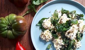 Tomates Mozzarella marinées aux saveurs d'été