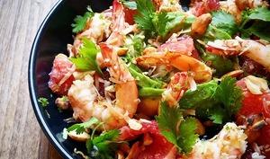 Salade de crevettes et pamplemousse à la Thaï