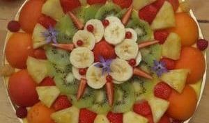 Tarte aux fruits frais et bergamote