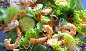 Salade asiatique de crevettes