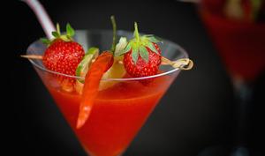 Cocktail fraise, tequila et piment