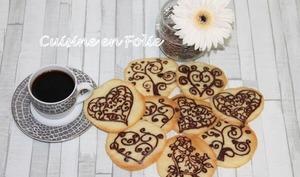 Tuiles coeur au chocolat