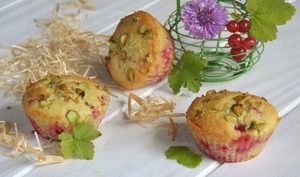 Petits moelleux groseille pistache amande