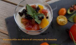 Pannacotta au chèvre et concassée de tomates