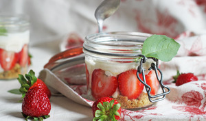Tiramisu fraises & basilic