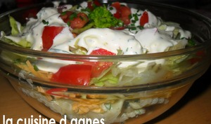 Salade de pâtes 7 étages