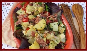 Salade de pommes de terre pêle mêle