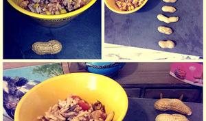 Salade de riz sauce vierge aux cacahuètes