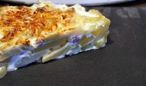 Gratin courgettes, lardons, pommes de terre au thermomix