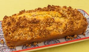 Gâteau du matin aux framboises et au zeste de citron façon crumble