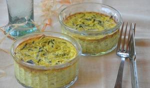 Clafoutis de courgettes au curry