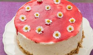 Cheesecake aux yaourts, au citron et aux framboises