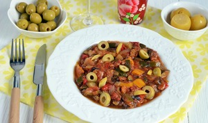 Ratatouille olives et citron confit